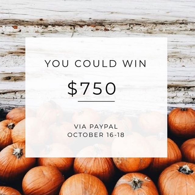 I've teamed up with some of my favourite accounts to give one person a chance at a $750 via PayPal! . To Enter: . ♡ Follow me . ♡ Head to @social.butterflies.giveaways and follow further instructions on how to enter . . . It's THAT simple. . . Giveaway will end 10/1819 at 7pm MST.  This giveaway is by no way endorsed, sponsored  or administered by Instagram (or any brands affiliated with them). Must be 18 years or older to enter.  Must be following all accounts to win. Must have a public account at least on the days of 10/16/19 - 10/18/19 so we can verify you are following all necessary accounts. By  entering you are confirming that you agree to instagrams terms of use. . . ♡♡♡ Good Luck ♡♡♡