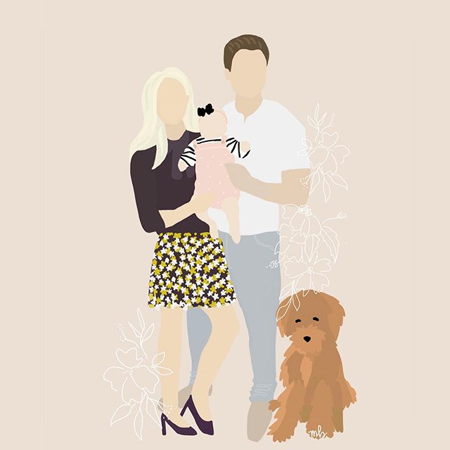 Look Ma we're a doodle! 👨🏼👩🏼👶🏼🐶 Done by the talented @MadeByMarniB!