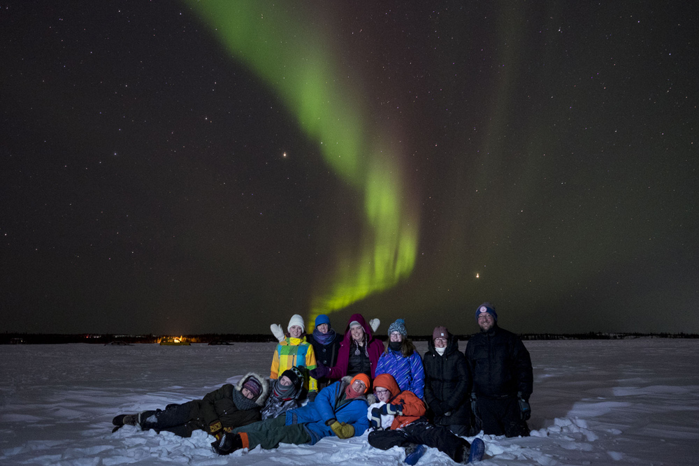 Spiritus gets a luminous photo op with the northern lights providing an incomparable backdrop. Photo by Bill Braden.