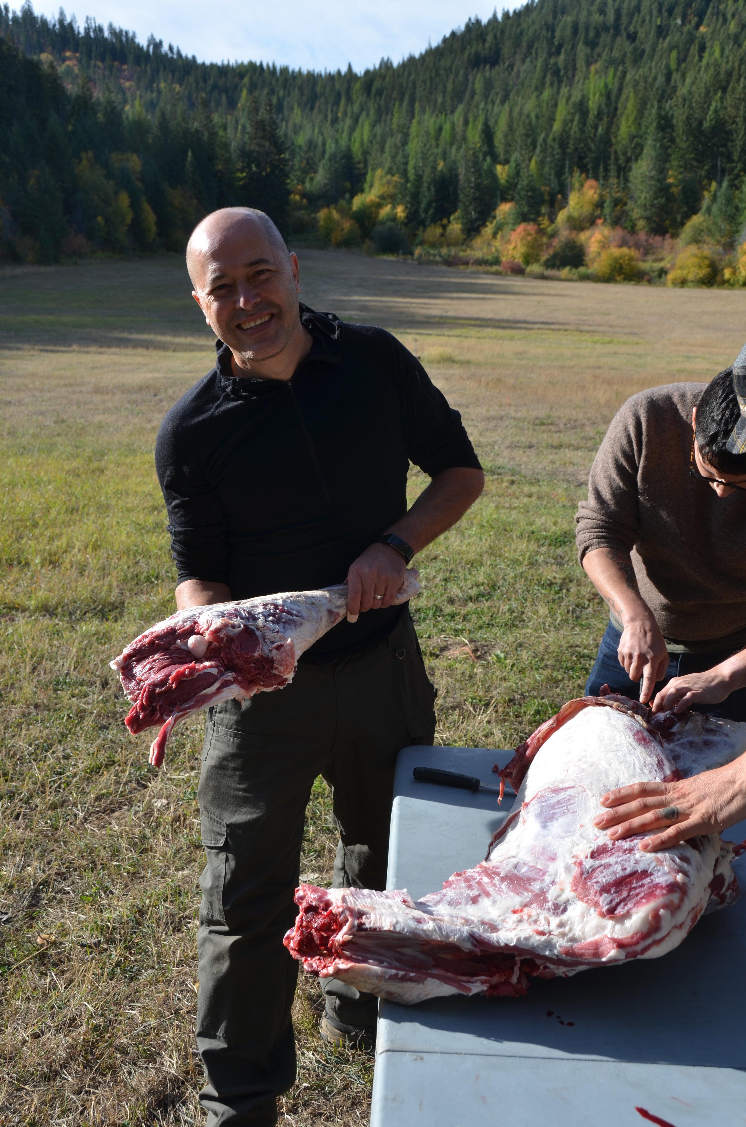 butchering wild game