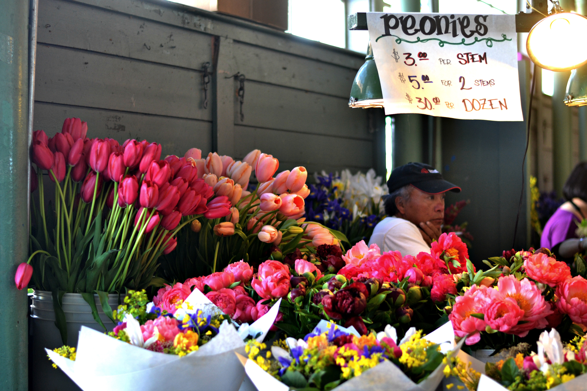 More Peonies + Tulips! Such great prices!