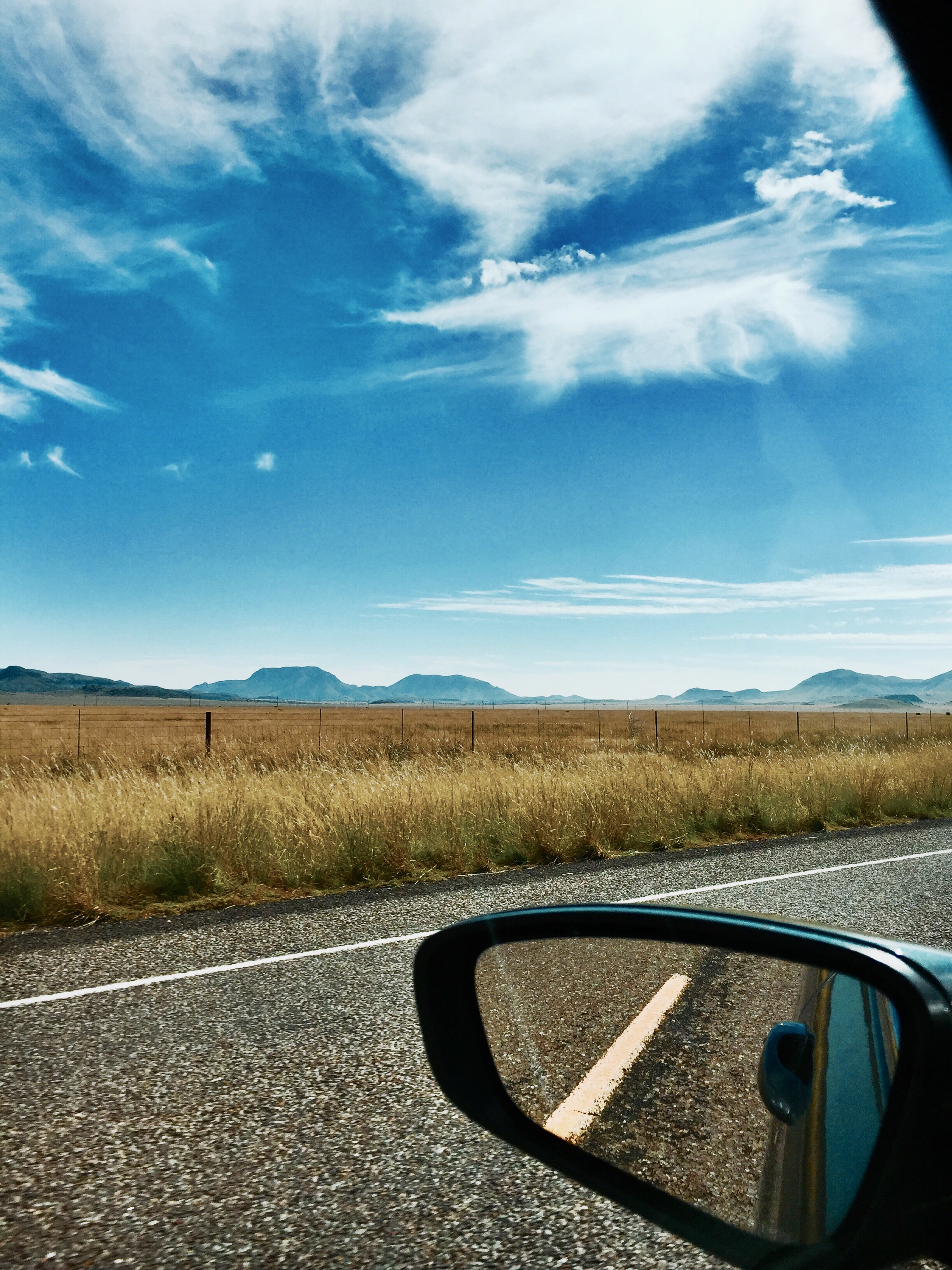 Enjoy the scenery along the open road!