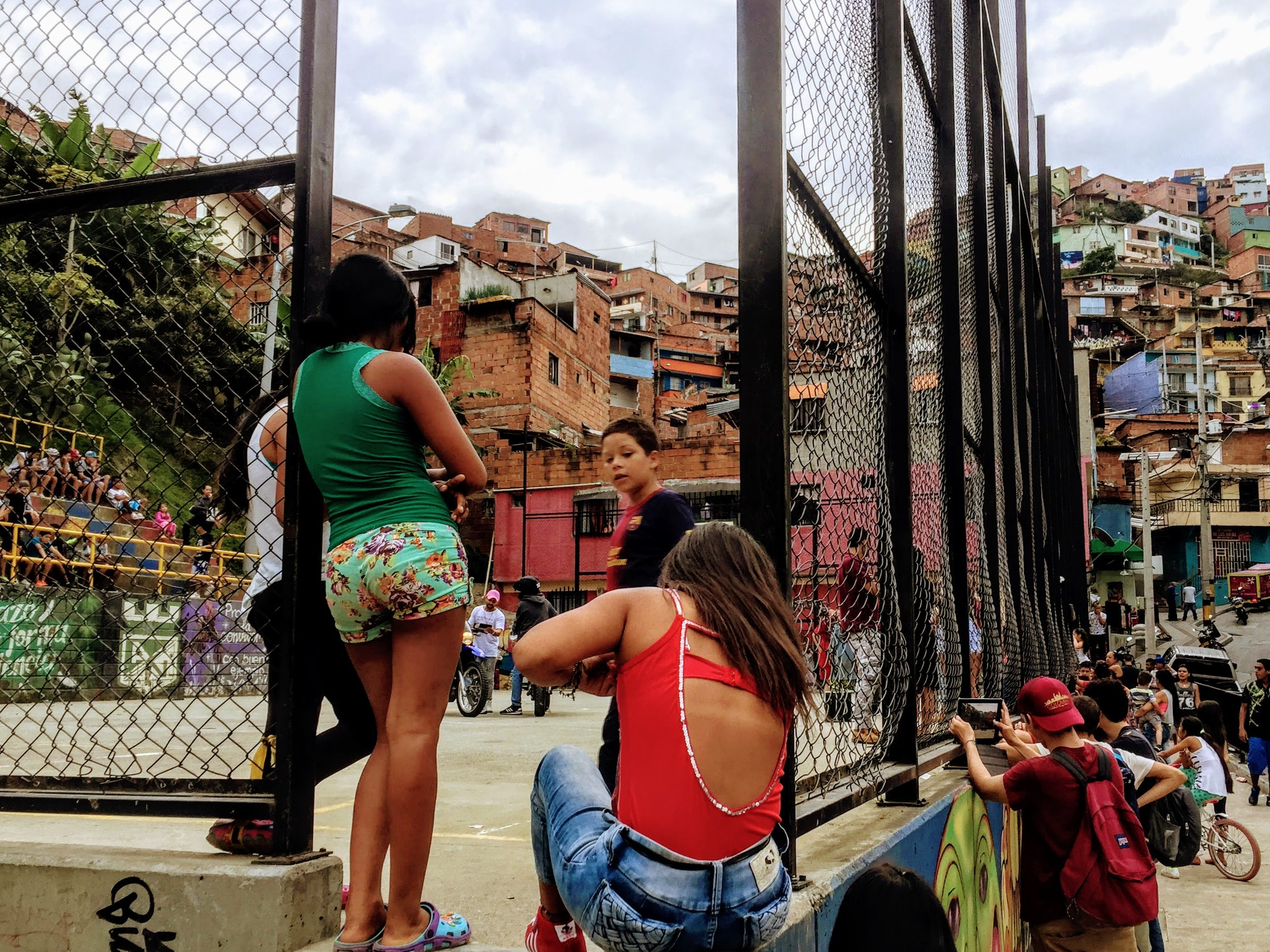 That time we stumbled upon a reggaeton music video being filmed in Medellin, Colombia - where some of the artists on this playlist were born. The genre originated in Puerto Rico.