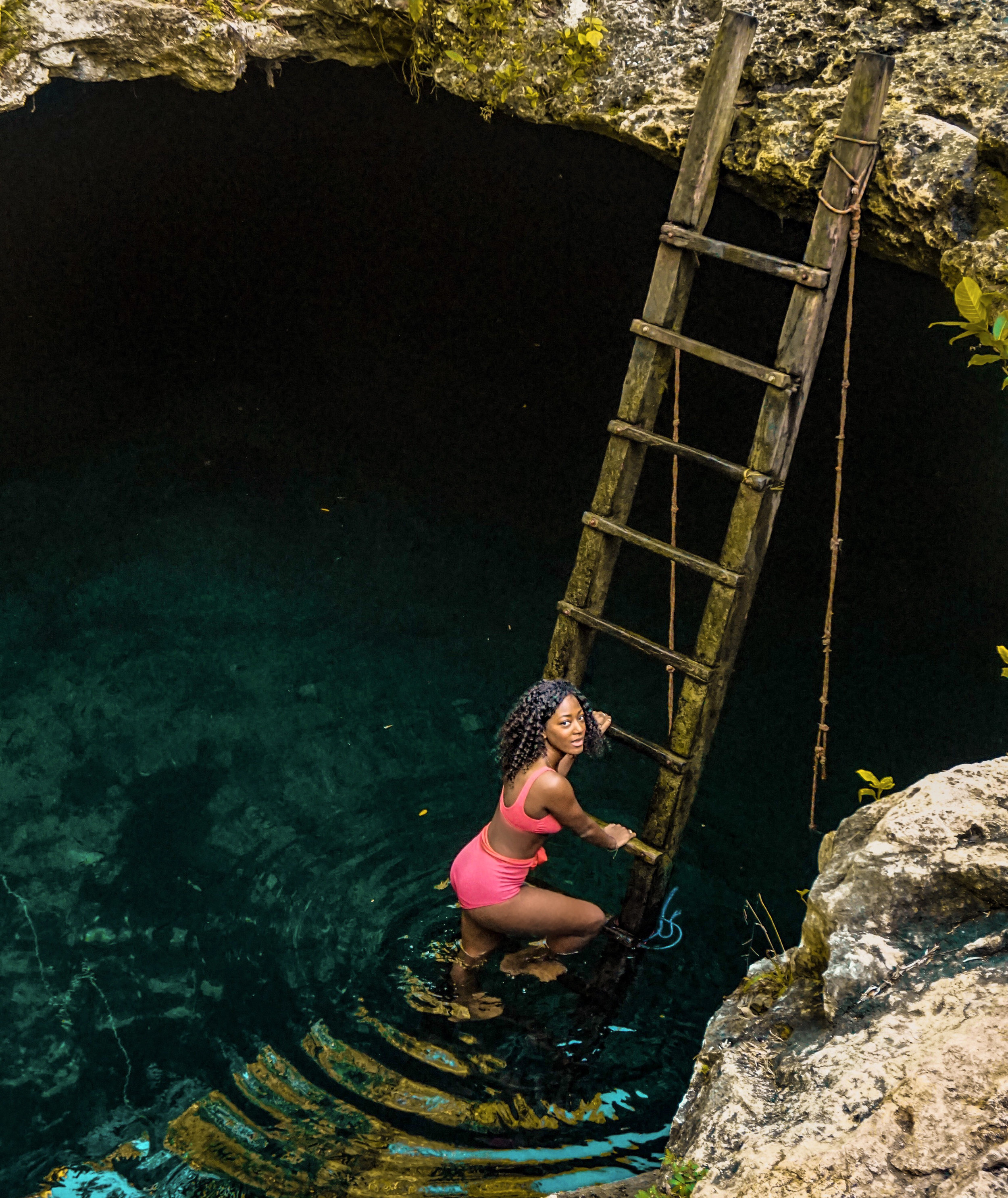 I discovered this low-key cenote in Mexico while scrolling through Instagram one day. This particular photo was taken by travelers who were there to have fun just like me! This photo took less than five minutes, but I stayed in this Cenote for around two hours.
