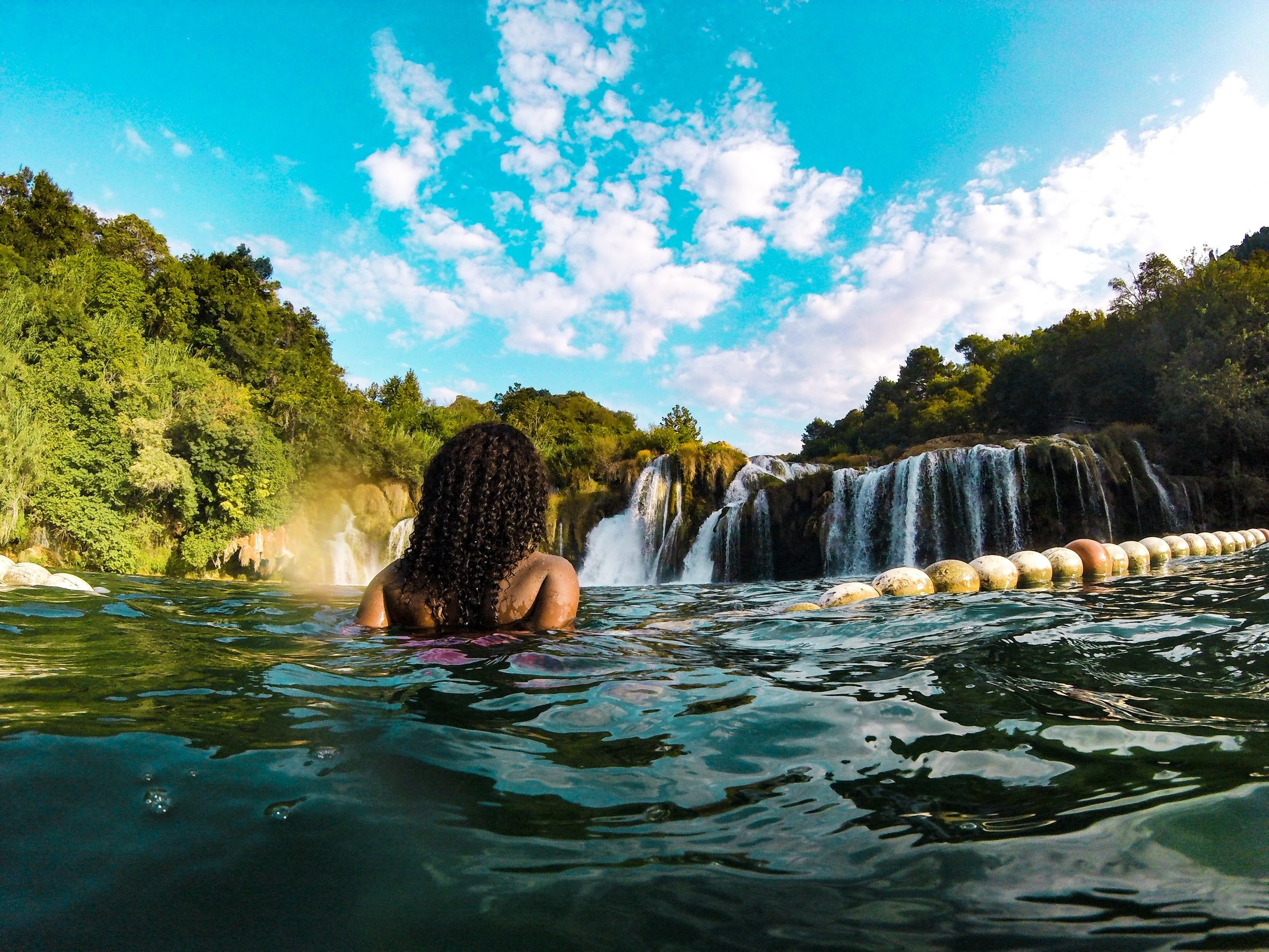 This photo was taken with a go-pro at Krka National Park in Croatia