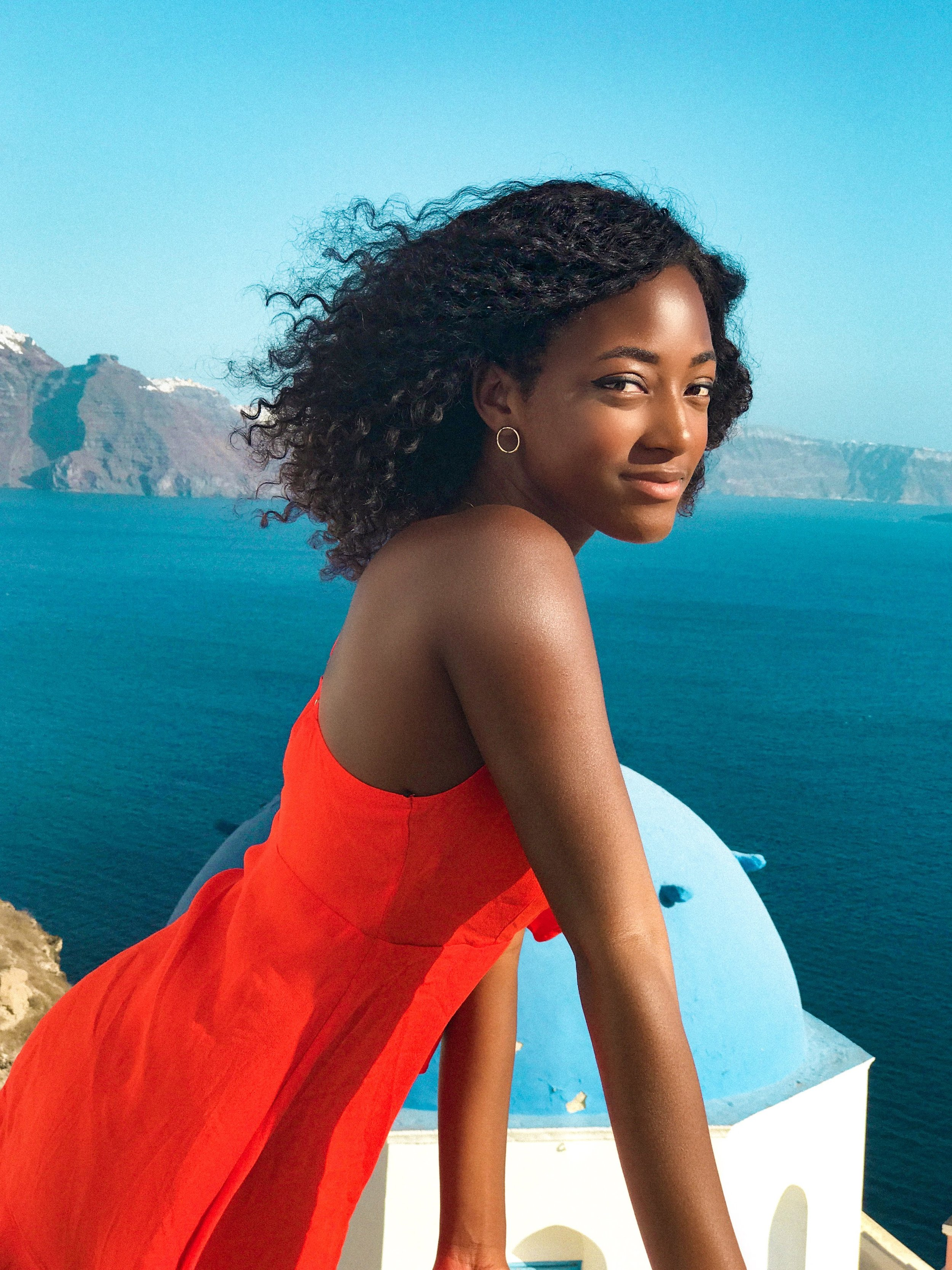 Believe it or not, a solo female traveler approached me to take a photo of her in Santorini. We were able to help each other out and we really clicked. This is one of the photos she took(with an iPhone) and it's one of my favorites. We ended up eating dinner together and she met up with me in San Francisco a year later so that we could reunite.