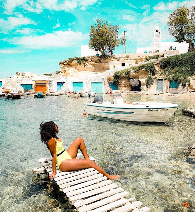 Greece in 5 Senses 💫  Sights: Wow. Too many to name. The beauty of Greece can not be denied Dramatic landscapes. Jagged cliffs that edge out over the Adriatic ocean. Well preserved village towns that look as if they're going to topple into the ocean. Cobble stoned streets. White and blue domed churches at the highest point in every village. White washed homes.  Rich cotton candy sunsets that will bring tears to your eyes. 50 shades of ocean blue.⁣⁣⁣ ⁣⁣⁣ Smells: The salty smell of the ocean air signalling that your ferry has finally arrived at the port and your island adventure has only just begun. ⁣⁣⁣ ⁣⁣⁣ Tastes: TWO WORDS - FRIED FETA. Jesus Christ, I'd fly back to Greece for the Fried Feta alone. Did you know that Feta cheese is said to have originated in Greece during the Byzantine times? I'm not sure about back then, but NOW it is served with a side of honey, apricot, or lemon and I'm salivating at the memory. Oh and Greek wine, red to be exact - but this may be more of a me thing than a Greek thing 🤷🏾‍♀️ ⁣⁣⁣ ⁣⁣⁣ Sounds: Greek grandmas shouting at their girlfriends or husbands from afar. The lively sounds of chatter and laughter that would fill the restaurant when Greeks sat down for a meal together. ⁣⁣⁣ ⁣⁣⁣ Touch: Smooth, Earth toned rocks and pebbles that you'll find at nearly every shore - in my hands, not on my feet(ouch!)⁣⁣ ⁣⁣ Did you know that bringing attention to all of your senses can help be more present? New environments can help ignite our senses & make us more aware. Perhaps this is why travel is so addicting and even reduce anxiety in some. ⁣⁣ When I travel, I really try to be mindful of the sights I'm seeing, the flavors I'm tasting, etc. It helps me to truly appreciate every moment. Sometimes that means taking notes mentally and other times it means taking note physically. I wrote most of this down while I was in Greece and it feels like I'm reliving each moment as I re-read it! ⁣  Stop, breathe, listen, observe, feel, savor. Life is unfolding all around you. Is there a specific, sight, smell, sound that you remember from your travels? which place? What feelings come up when you remember? I'm so interested in the psychology behind this!