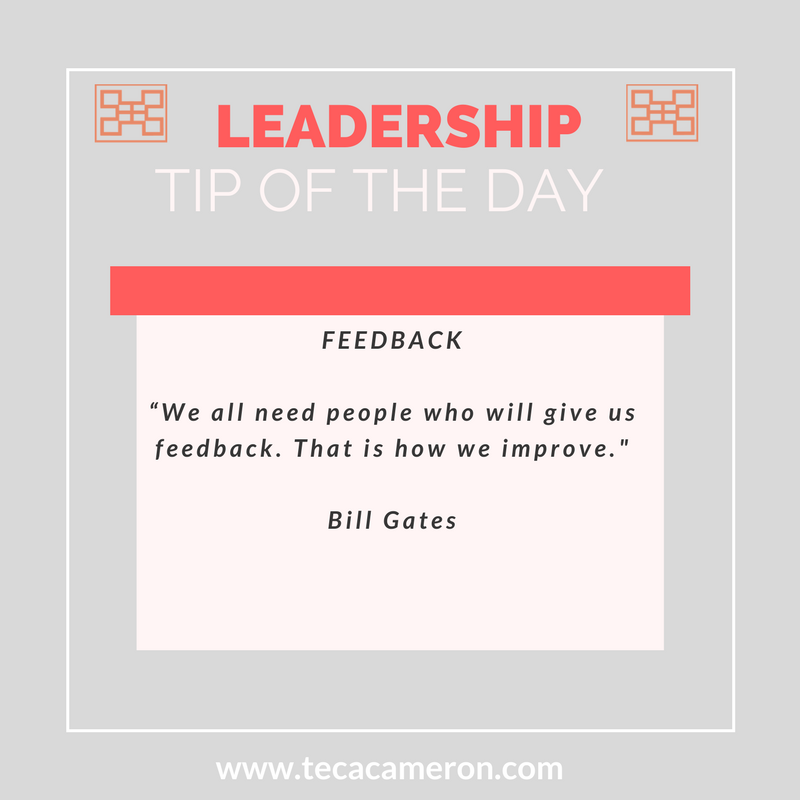 """Leaders are encouragers. They are also in the business of empowerment. I've noticed that many people shy away from giving others feedback, particularly when it is negative. A staff member does something that doesn't meet expectations, an interviewee doesn't make the cut, someone does something great but does not get told , I see it happen a lot.  What feedback does is it helps people to grow. Rare are those people who are willing to take the risk of letting another person know how they could improve or to celebrate them when they have done something well.A lot of people shy away from difficult conversations or they are not sure of how to give compliments so they just avoid them all together.  Here are some quick tips on giving and receiving feedback:   RECEIVING   1.  Be a gracious recipient and thank the person giving the feedback.  Whether positive or negative, feedback, when done appropriately serves to help you to grow.  2.  Avoid being defensive:  'Yeah but.."""" nothing. Be open to listening and absorb the information like a sponge. Your future will thank you for it. Defensiveness comes across as failing to own up to where you may have fell short. If you honestly feel like you have been misunderstood, demonstrate it by improving for the next time.  3.  Ask for suggestions on what you could have done differently , if not already provided. This demonstrates that you are eager to act on the feedback that you are receiving.   GIVING   1.  Start from the position of positive intentions.  Recognizing that someone not meeting your expectations does not mean that they are bad or that they are never capable, it just means that they didn't meet your expectations this time.  2.  Start with what was good and what went well.  People receive feedback better when they know it is coming from a good place. Offer feedback from the position of trying to be helpful. As the recipient how they felt that they could have improved the situation.  3.  Be kind with your words and helpful t"""