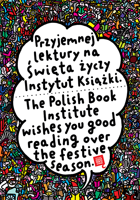 postcard and poster, client: Polish Book Institute, 2014