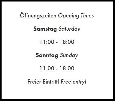 - 01.07.2017: neue Öffnungszeiten!Liebe Besucher,bitte beachten Sie ab sofort unsere neuen Öffnungszeiten. Gehen Sie jetzt Samstags und Sonntags von 11 Uhr bis 18 Uhr auf Entdeckungsreise.Der Eintritt ist wie immer frei!