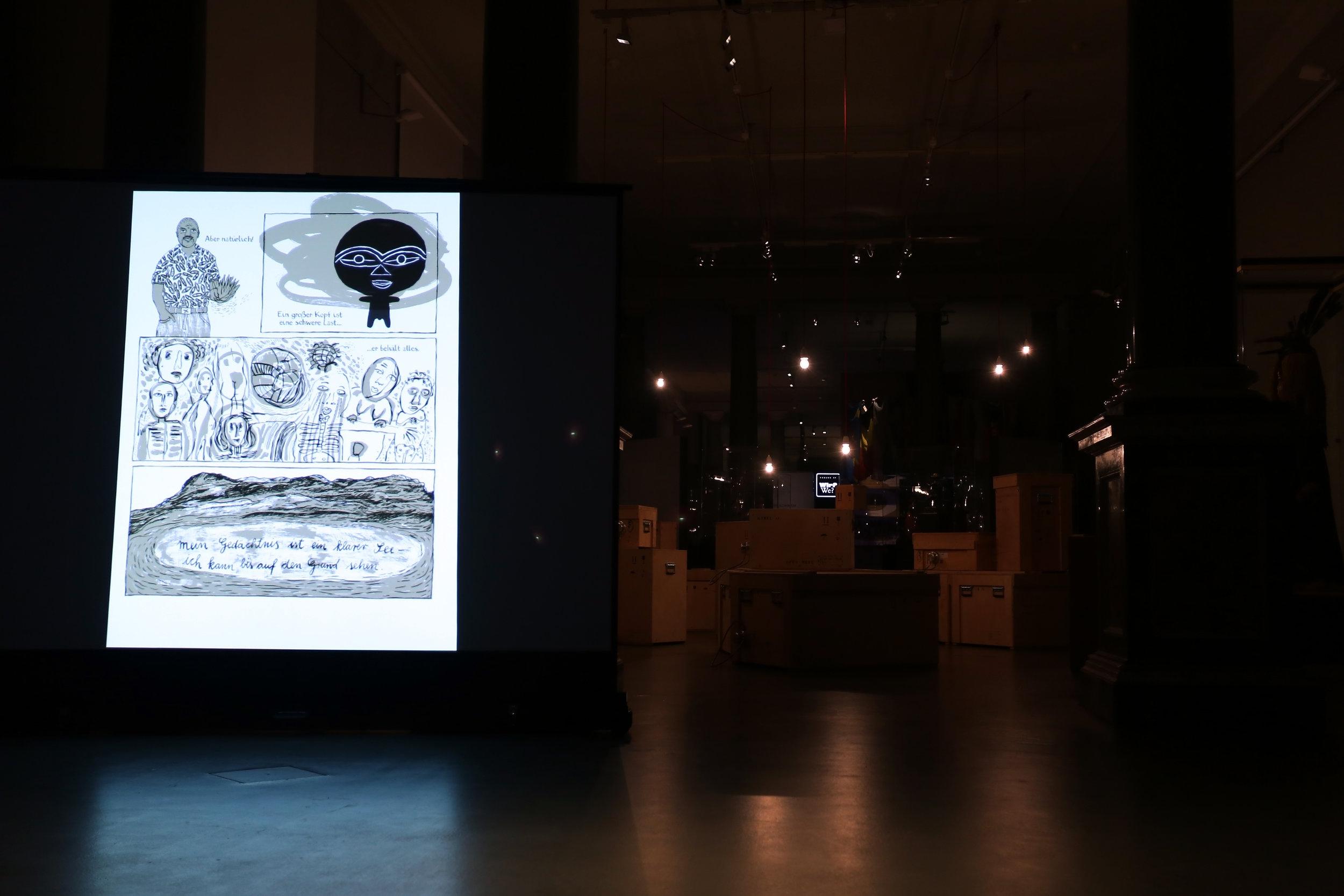 Comic-Lesung - Am Samstag Abend haben wir mit Birgit Wyhe ihren Comic