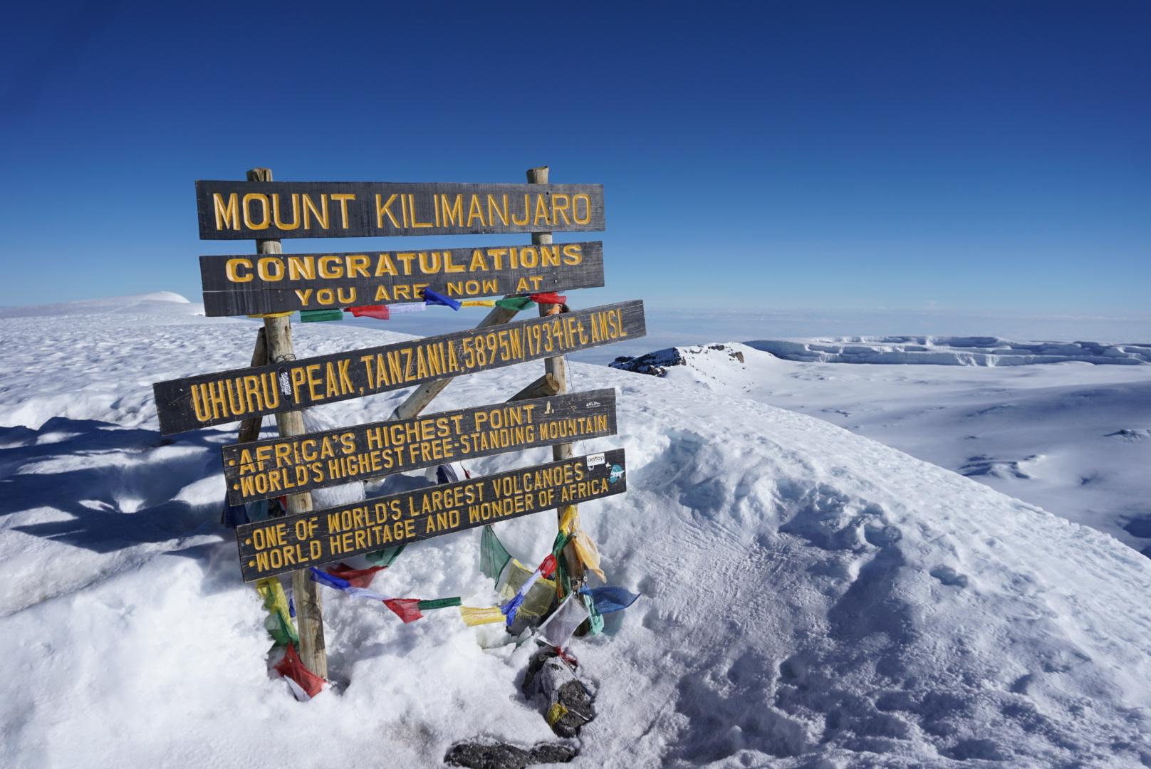 Uhuru Peak - 19,341 above sea level