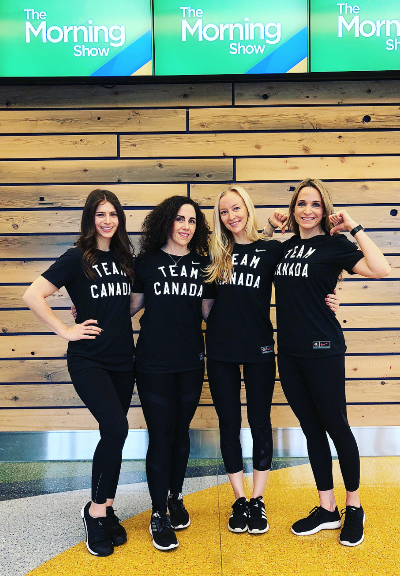 A  #TeamCanada worthy workout on  @morningshowto  @globaltv with the  #GiFTsquad this morning! ☀️🇨🇦 Always such a fun time with this high-energy crew! @MikeGArsenault