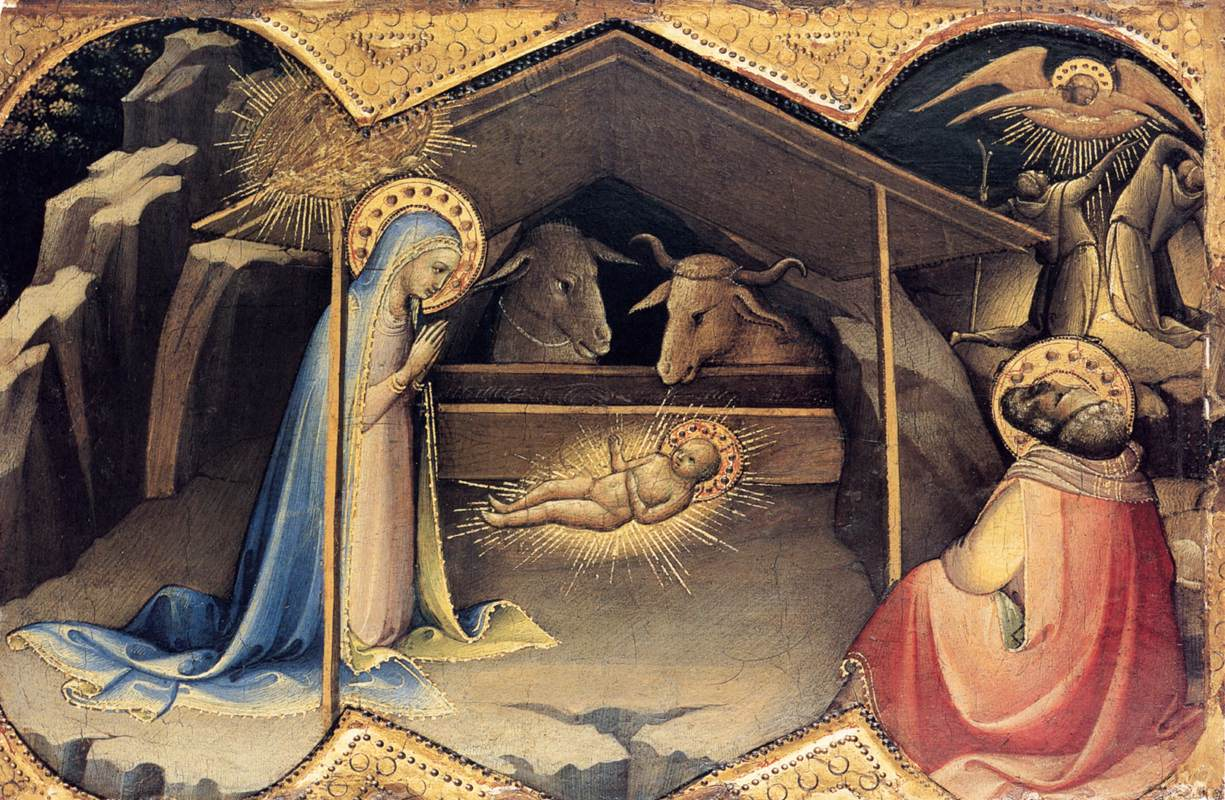 The Nativity,  Lorenzo Monaco (Piero di Giovanni), ca 1406-1410.