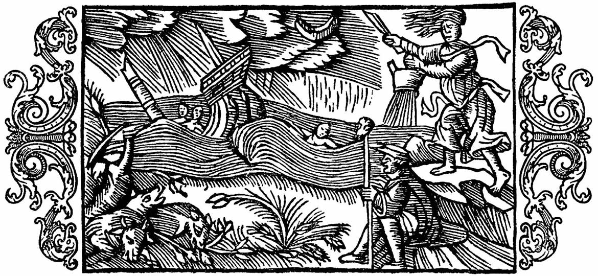 Olaus Magnus. Witches in Sweden. Learn Latin with Latinitium.com