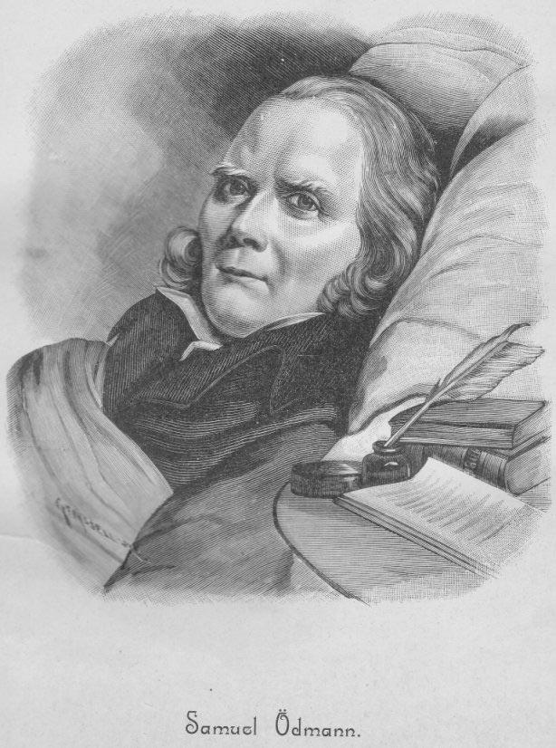 Samuel Ödmann, engraving by Gunnar Forssell (1859-1903) after a painting by Johan Gustaf Sandberg (1782-1854).