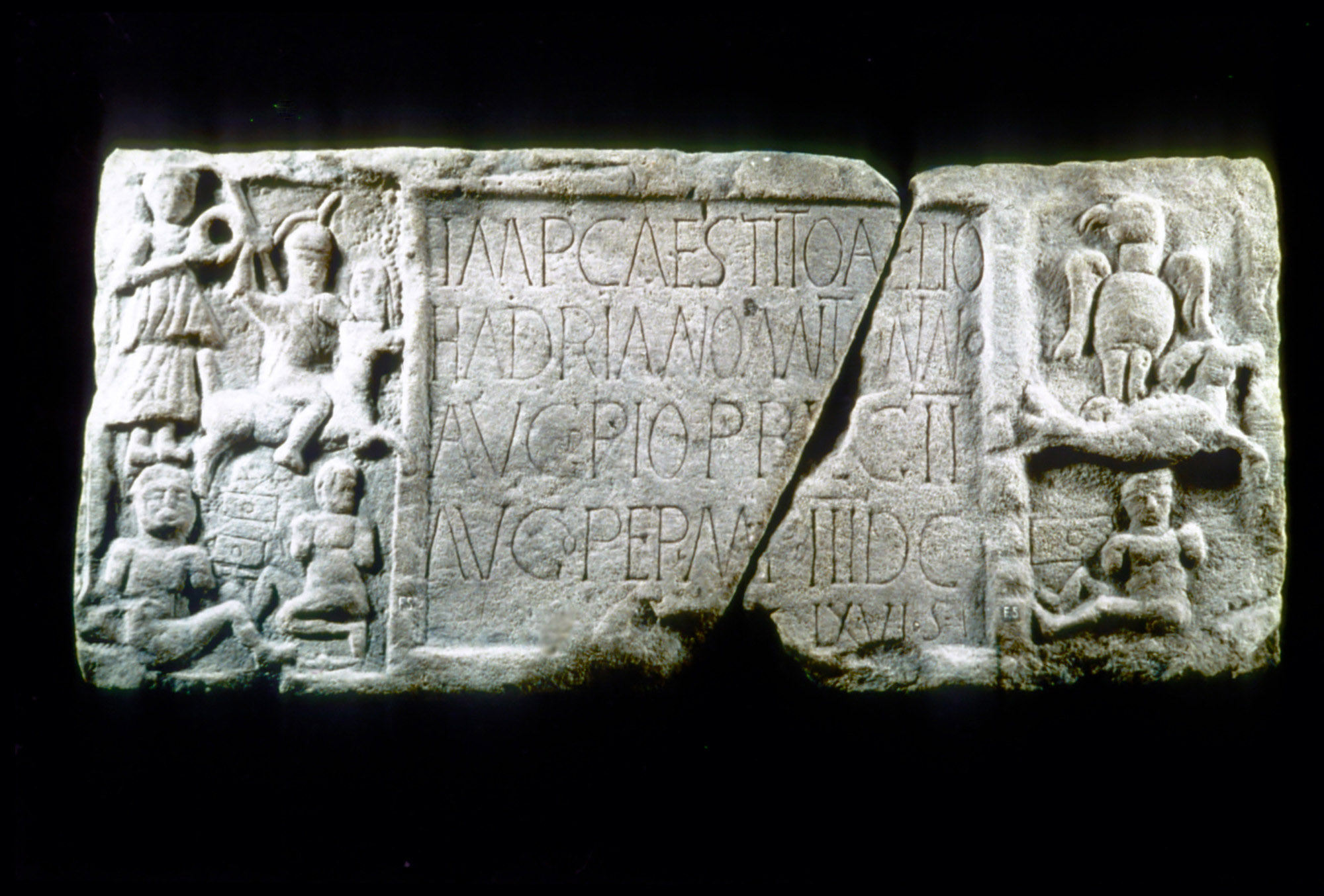 Antonine Wall Distance Slab, Legion Ii, photo The Roman Society
