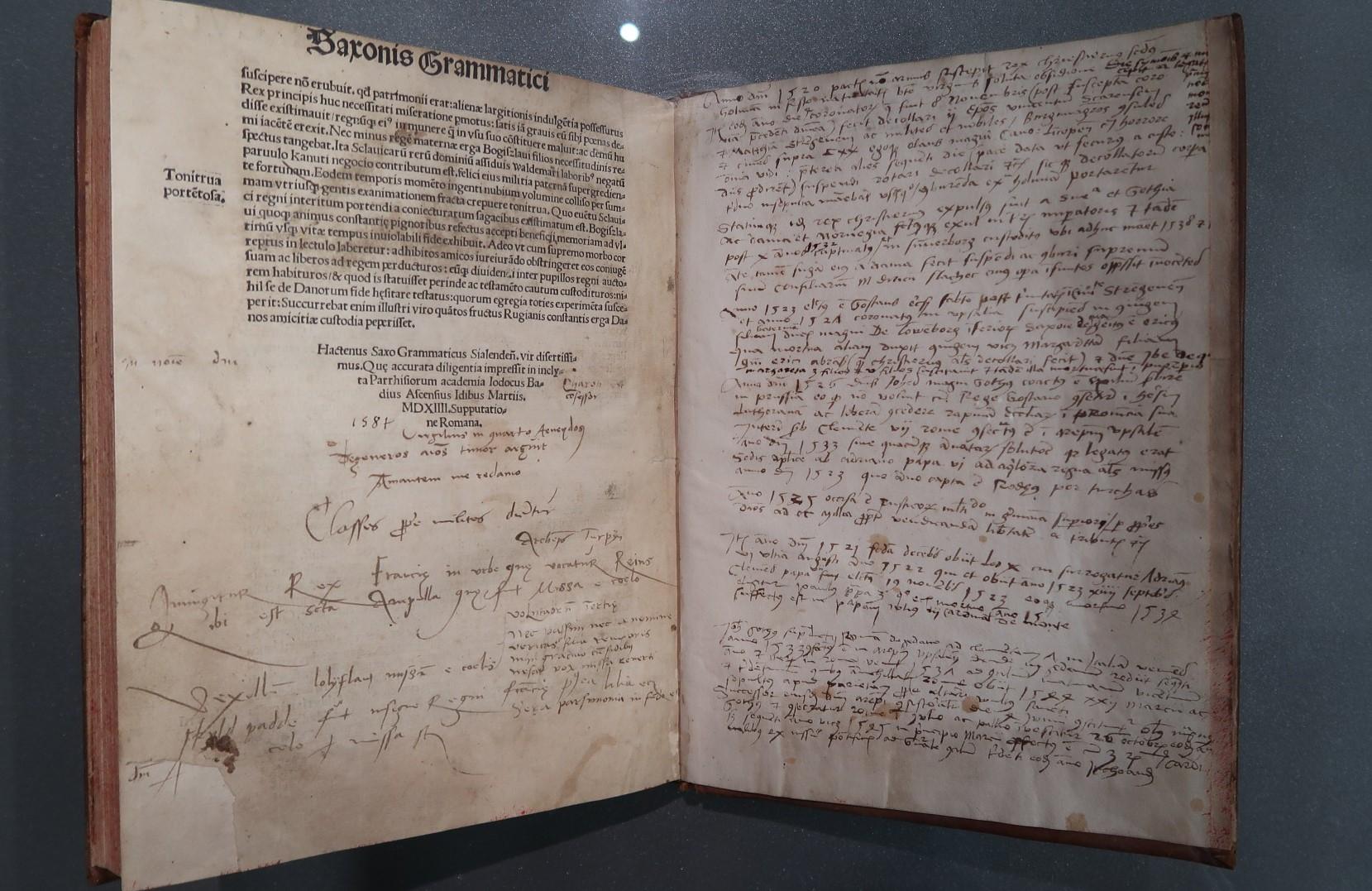 Saxo Grammaticus,  Gesta Danorum , Kungliga Biblioteket Stockholm. Photo Amelie Rosengren, Latinitium.com