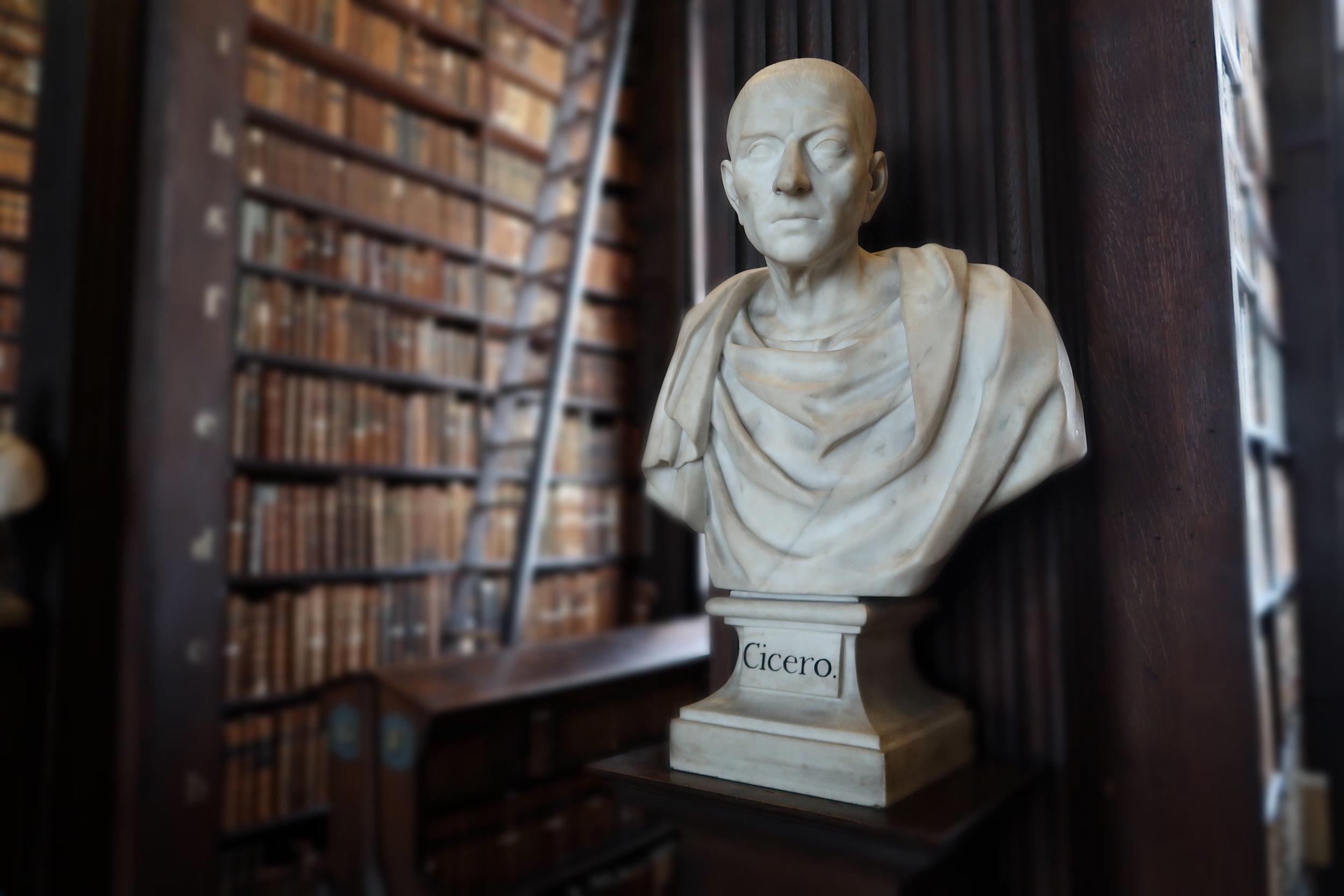 Cicero, Old Library Trinity college Dublin, photo Amelie Rosengren Latinitium.com.JPG