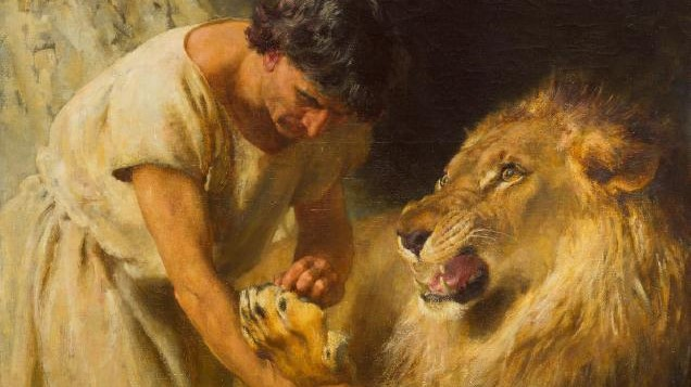 Listen to the story of Androcles and the lion in Latin.