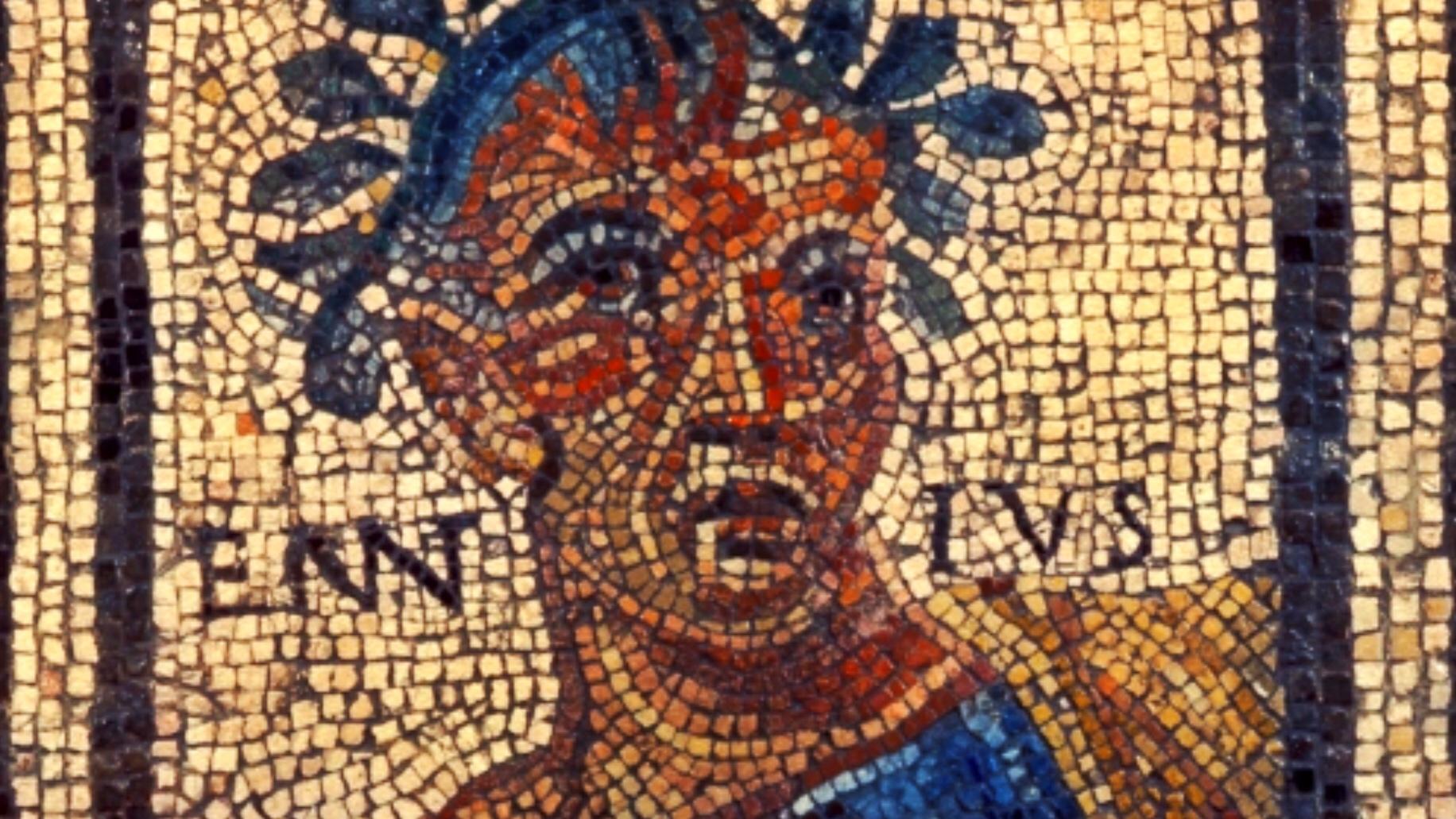 Ennius mosaics, learn latin with latinitium.JPG