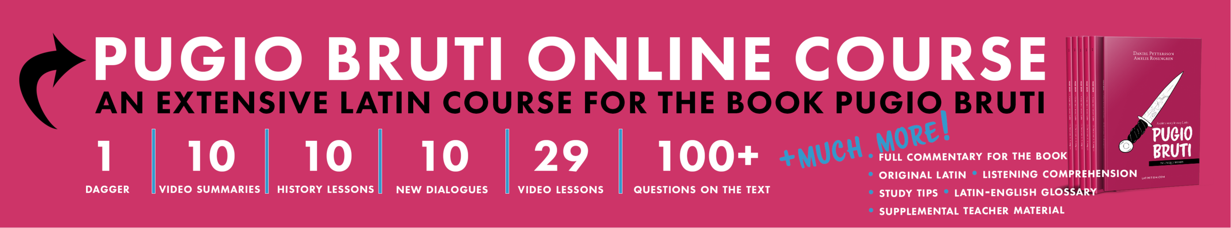 Learn Latin with the online Pugio Bruti course.