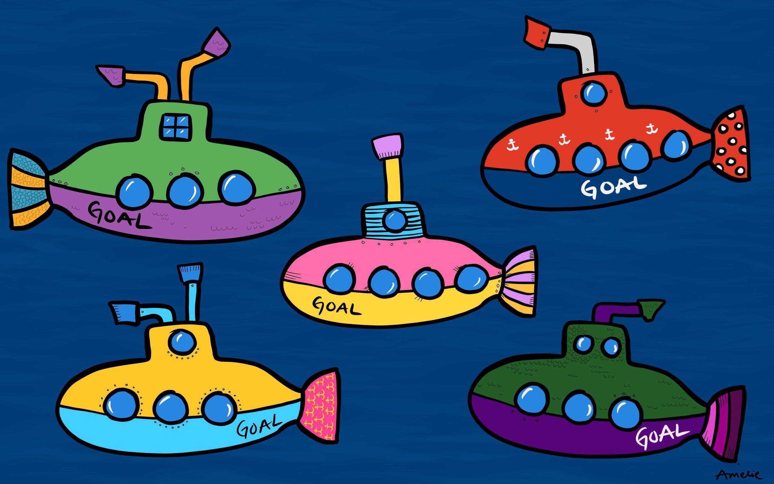 Subgoals, illustration by Amelie Rosengren