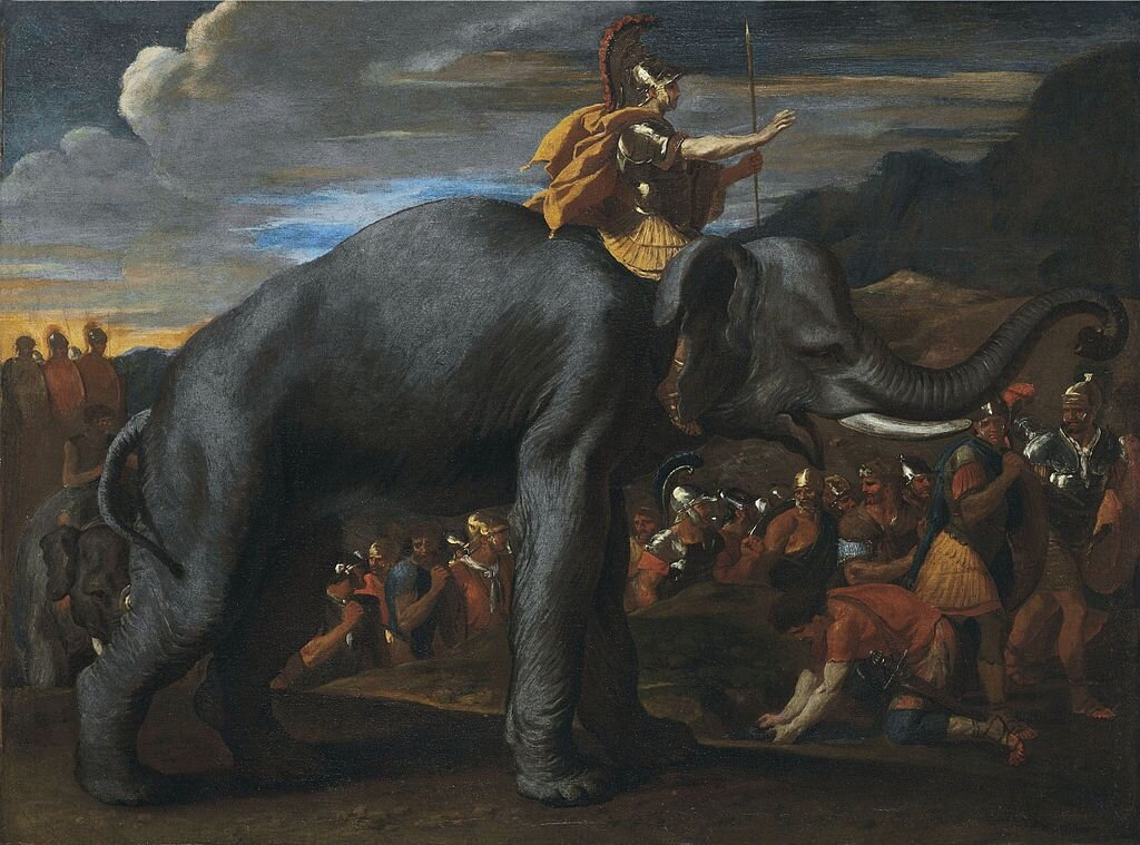 Hannibal Crossing the Alps by Nicolas Poussin