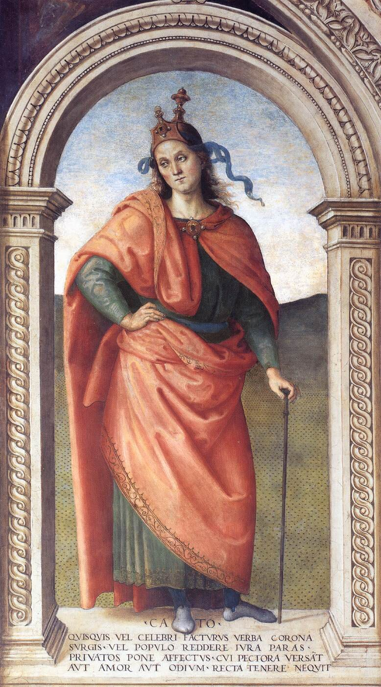 Cato, Fresco at Collegio del Cambio in Perugia by Pietro Perugino