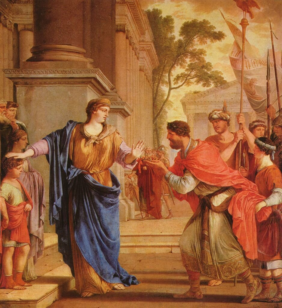 Cornelia rejects the crown of Ptolemy, Laurent de la Hyre
