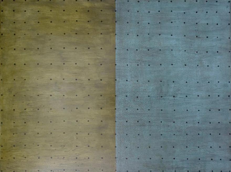 mondinnen, 2018, Pigmente, Graphit und Lack / Leinwand, 90cm x 120cm