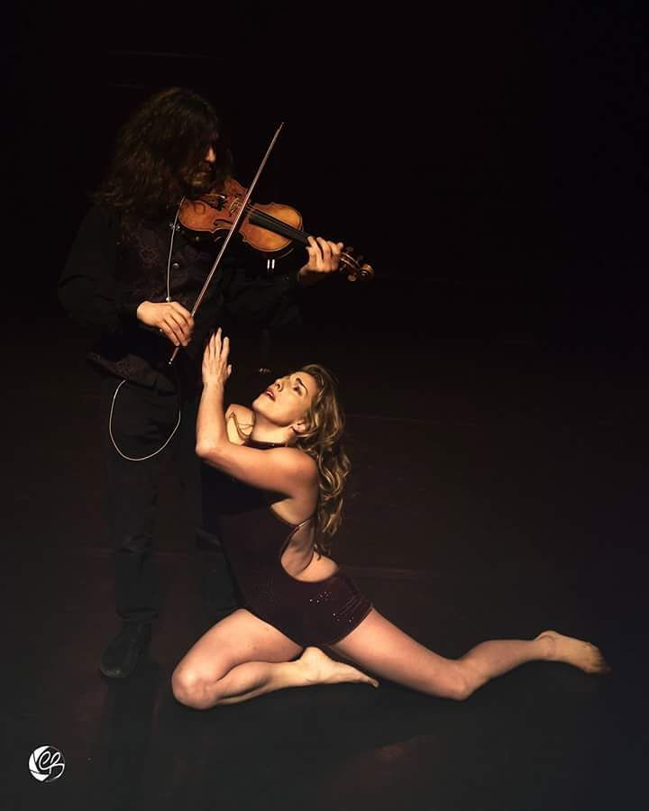POLE and live violin fusion performance telling the story of the relationship between two artists and their respective arts...Guest Performance of the Pole Fusion Festival and BAPS 2017.