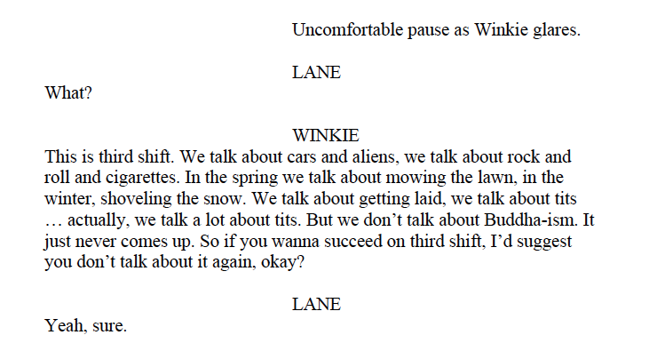 """Excerpt from the script of """"American Machine"""" by James Lantz"""