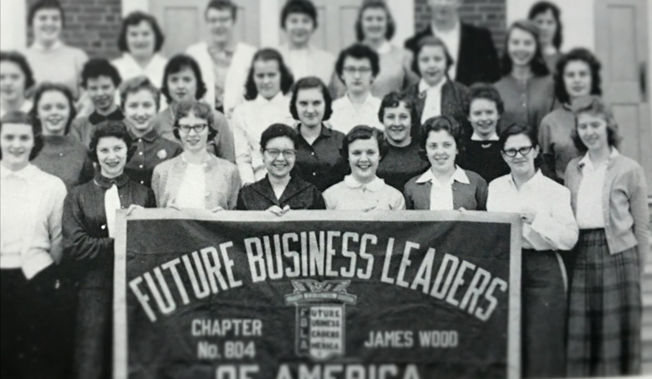 My mom, JoAnn Lantz, in the Future Business Leaders of America.