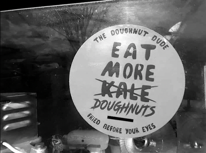 A sticker for Bo Muller-Moore's doughnut business posted on Facebook.