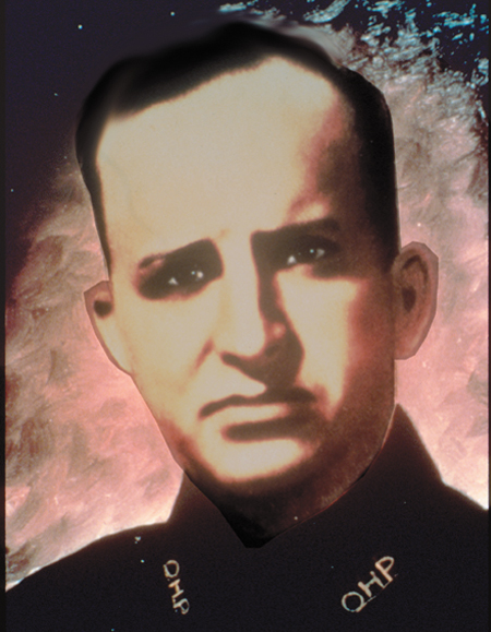Trooper James Long   July 12, 1941   Long joined the OHP in 1942. Trooper Long had worked at Patrol Headquarters until approximately 1:30 a.m. on July 12, 1942. As Long passed a park at Northwest 22nd and Broadway in Oklahoma City, he heard screams from an eighteen year old girl who was being beaten by a man who had followed and attacked her. When Long went to her aid, the attacker fired four shots with one striking Long in the chest. The murderer has never been apprehended.