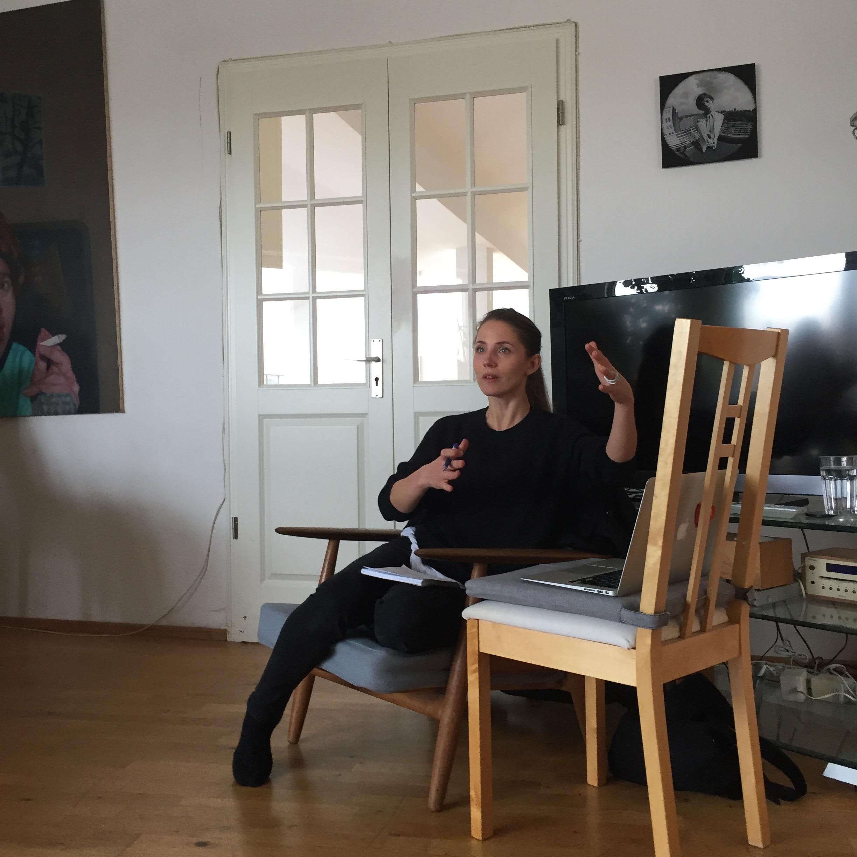 Tuva Novotny var en av våra gästföreläsare under veckan i Berlin.
