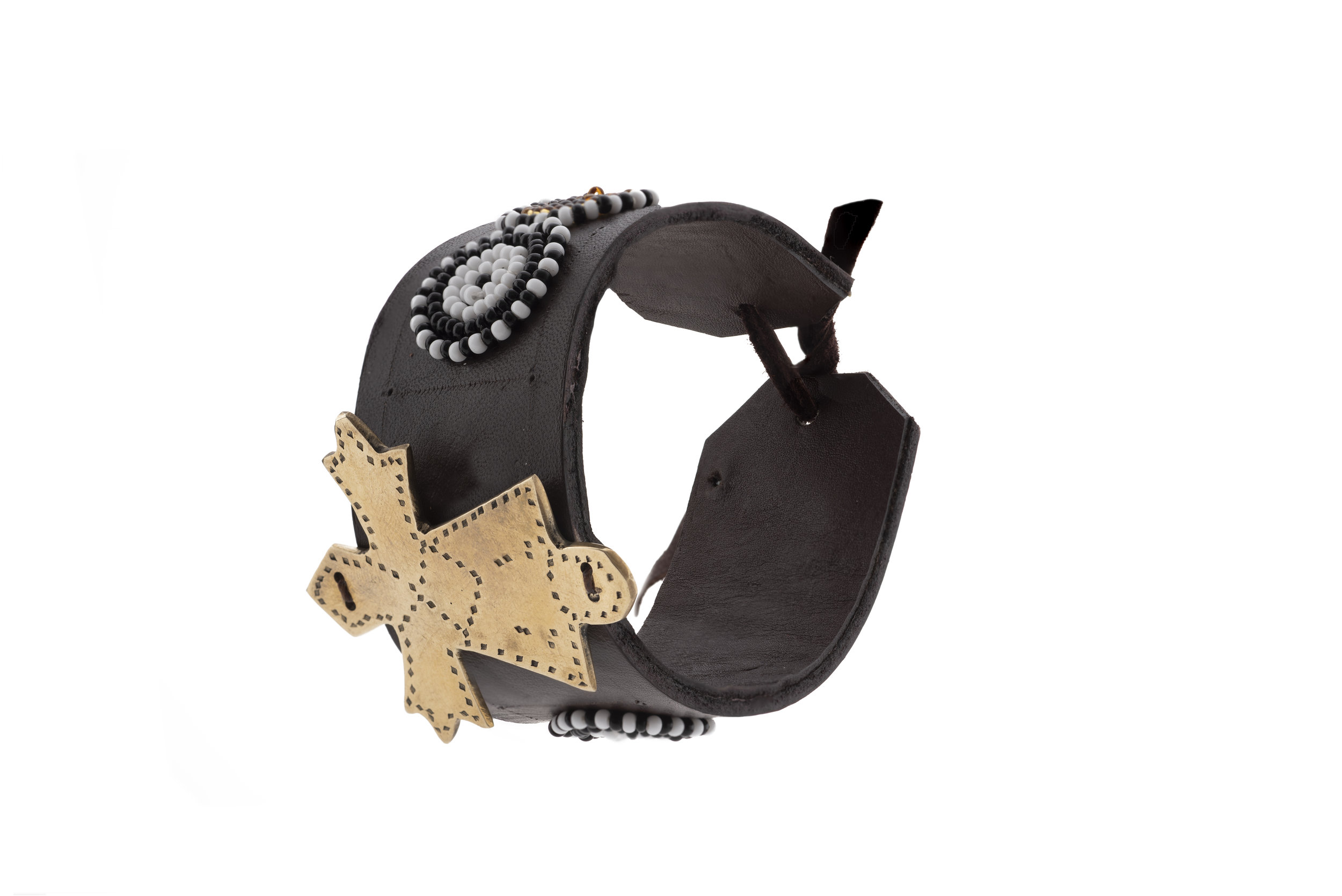 Star leather cuff
