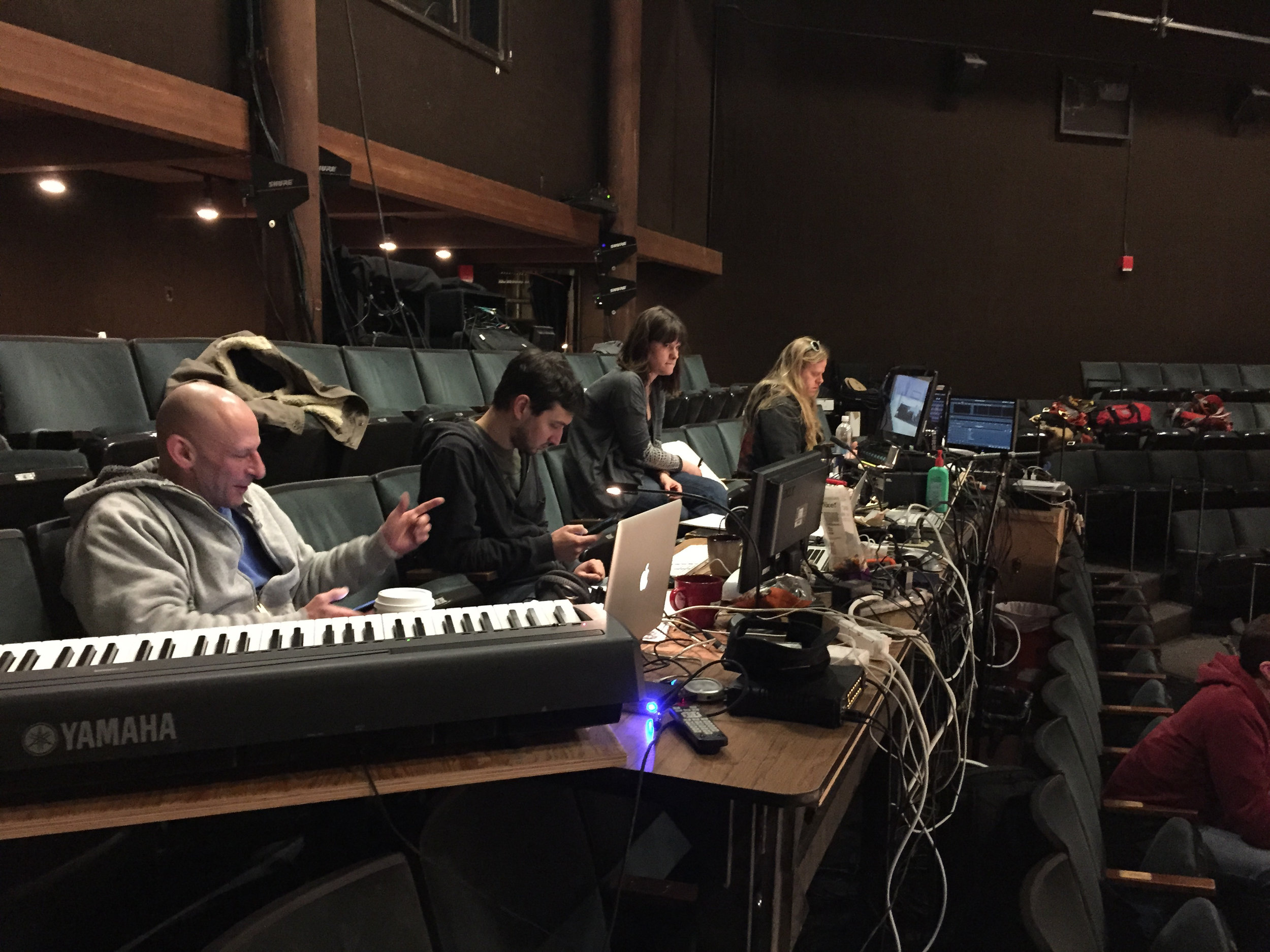 Mark Bennet, composer and the tech team.