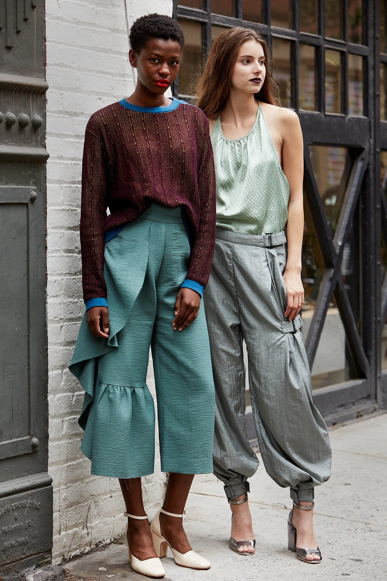 I'll take a ruffled asymmetrical pant any day. I actually mean that.