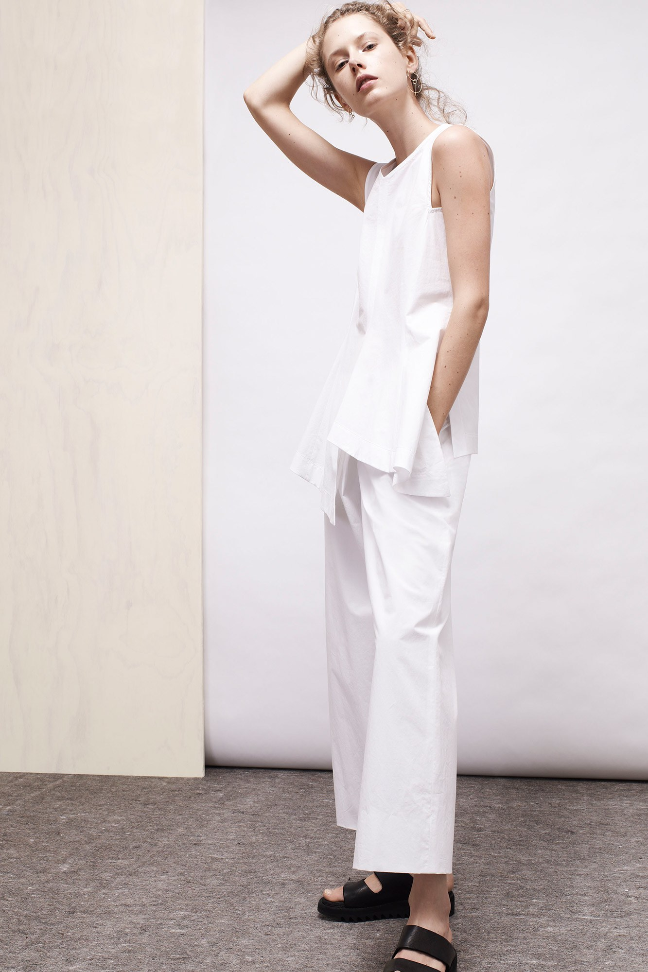 And a white one with draping on top and volume below
