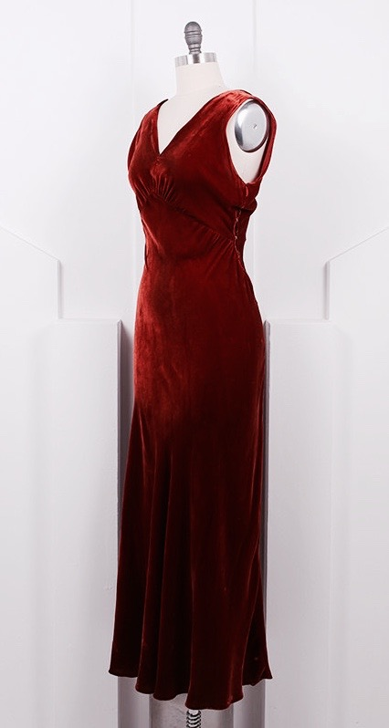 1930's Bias Cut Velvet Dress and Bolero