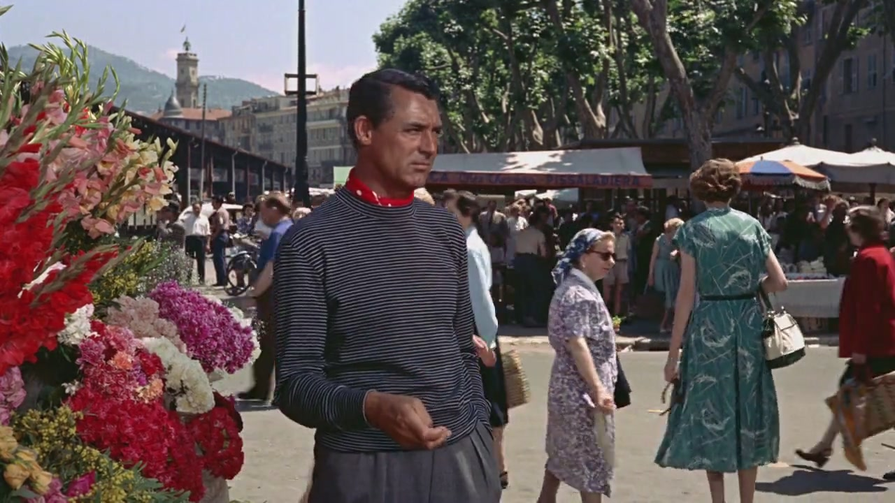 Here's Cary being generally fabulous in the South of France in Hitchcock's To Catch A Thief. Notice the pattern play- striped sweater coupled with a bright red polka dot ascot. Mr. Grant is not the only guy we know  who loves a good stripe .