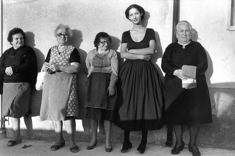 Ferdinando Scianna,   Marpessa and Women  , Modica, Sicily, 1987  via  The Red List