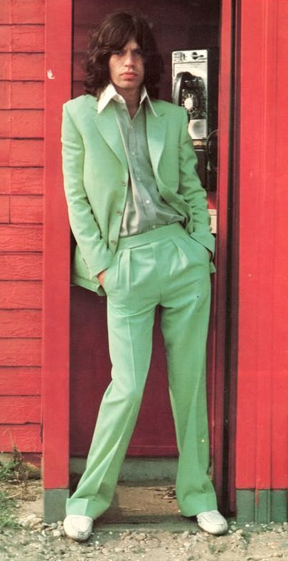 In a light green suit. Photo: unknown.