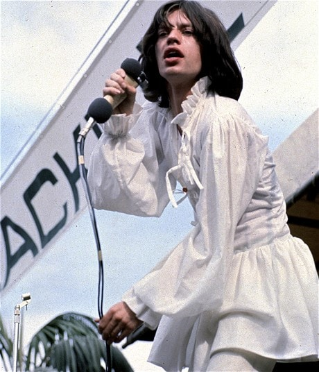 Performing in 1969 wearing a white dress. Photo: Rex Features.