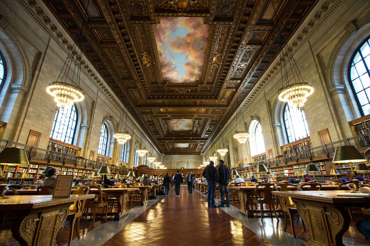 The Rose Reading Room in the New York Public Library. Photo: Drew Angerer/Getty via The New Yorker.