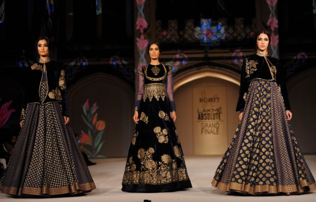 Rohit Bal Spring 2016.Photo: Getty Images.