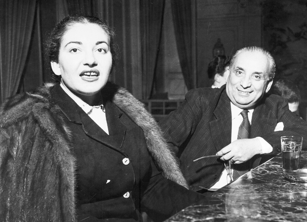 In 1951 with Giovanni Battista Meneghin, her husband at the time. Photographer unknown.