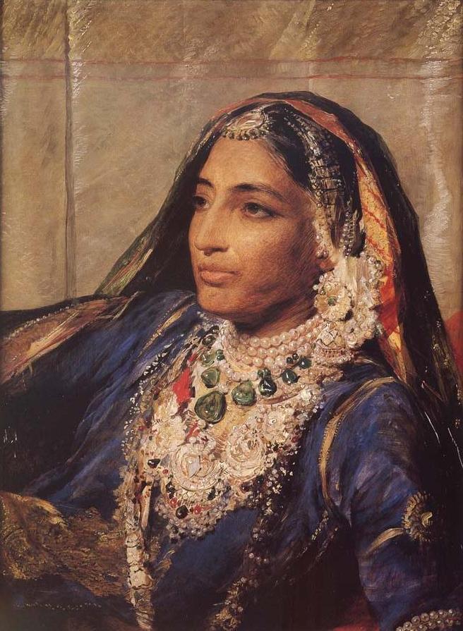 Maharani Jind Kaur painted by George Richmond, 1861